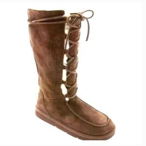 Ugg Espresso Brown Tularosa Lace Up Boots  8